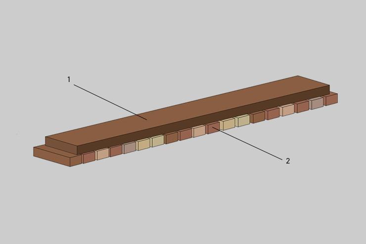 2-Schicht Parkettstäbe Abbildung 2